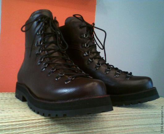 Обувь ручной работы. Ярмарка Мастеров - ручная работа. Купить ботинки MOUNTAIN. Handmade. Коричневый, кожа натуральная