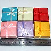 Материалы для творчества handmade. Livemaster - original item Box under the ring square 5 x 5 cm, 6 colors. Handmade.