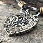 Зоотовары handmade. Livemaster - original item Medallion-amulet for a dog with a rotifer and battle axes. Handmade.