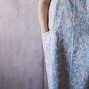 """Одежда ручной работы. Ярмарка Мастеров - ручная работа Льняное платье """"Рябина"""". Handmade."""