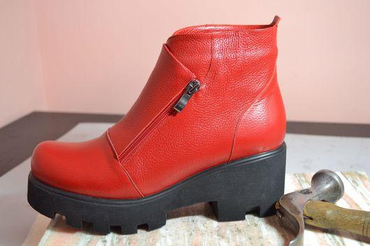 Обувь ручной работы. Ярмарка Мастеров - ручная работа. Купить Ботинки женские. Handmade. Обувь ручной работы, индивидуальный пошив