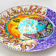 Order Decorative plate 'Solar Eclipse' hand painted. Art by Tanya Shest. Livemaster. . Plates Фото №3