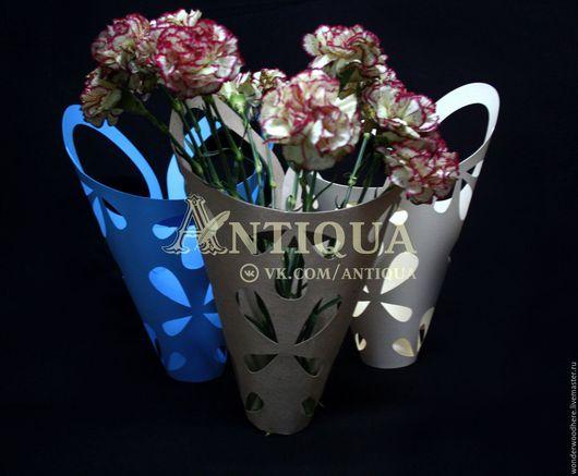 Упаковка ручной работы. Ярмарка Мастеров - ручная работа. Купить Конусная упаковка для цветов. Handmade. Коробки, коробочки, коробка для цветов