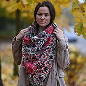 Аксессуары handmade. Livemaster - original item Neck scarf warm large Evening chrysanthemums. Handmade.
