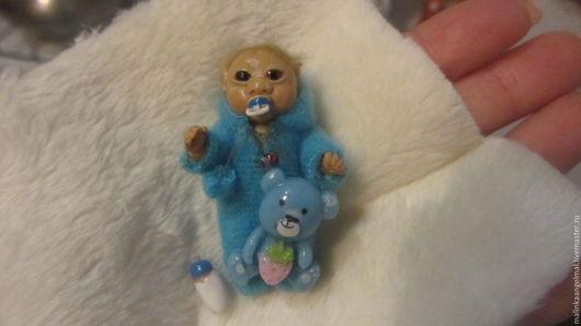 Коллекционные куклы ручной работы. Ярмарка Мастеров - ручная работа. Купить Мини малыш эльфик Тимка 4,7 см. Handmade.