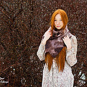 Аксессуары handmade. Livemaster - original item Handmade Felted scarf Winter sketches 3. Handmade.