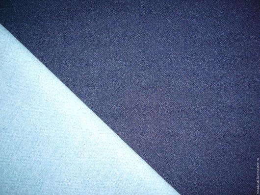 """Шитье ручной работы. Ярмарка Мастеров - ручная работа. Купить Пальтовая двусторонняя  """"Сине голубая"""". Handmade. Тёмно-синий"""