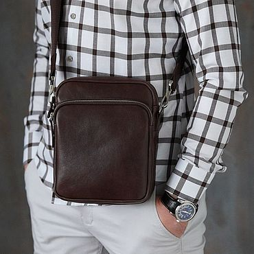 Bags and accessories handmade. Livemaster - original item Men`s shoulder bag