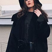 Одежда handmade. Livemaster - original item Black double breasted coat in the style of boho. Chic. Handmade.