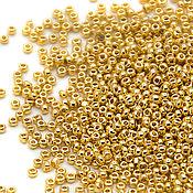 Бисер Charlotte 15/0 24k Gold (2 гр) Золотая чешская Шарлотта 15-GP