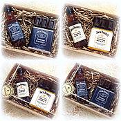 Косметика ручной работы. Ярмарка Мастеров - ручная работа Набор мыла Jack Daniels с шоколадом в подарок мужчине. Handmade.