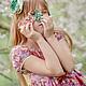 Одежда для девочек, ручной работы. Платье сакура розово сиреневое Хлопок оборки. Camilla Reynolds. Ярмарка Мастеров. Необычное платье