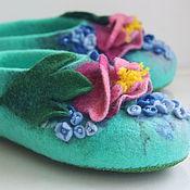 """Обувь ручной работы. Ярмарка Мастеров - ручная работа Тапочки """"Когда в саду цветут пионы"""".. Handmade."""