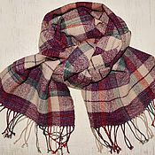 Аксессуары handmade. Livemaster - original item Scarf homespun plaid