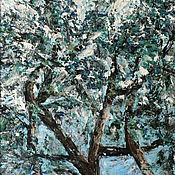 Картины и панно handmade. Livemaster - original item The picture tree oil is a symbol of life 50H70. Handmade.