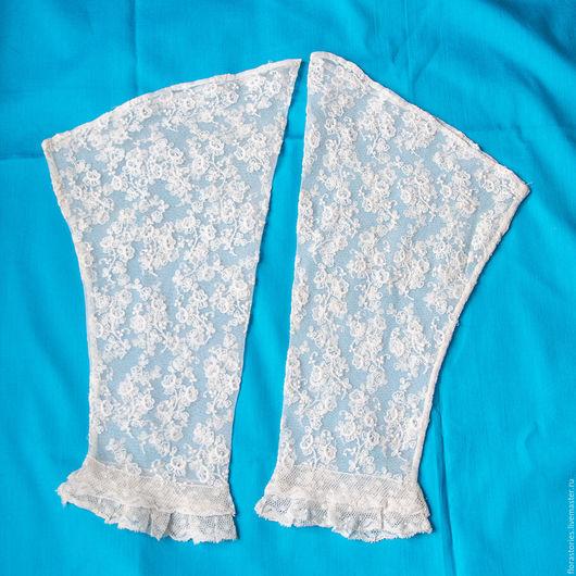Винтажная одежда и аксессуары. Ярмарка Мастеров - ручная работа. Купить Старинные манжеты-рукава. Handmade. Белый, манжеты кружевные