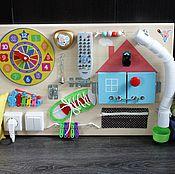 Куклы и игрушки ручной работы. Ярмарка Мастеров - ручная работа Бизиборд №4 с пультом д/у. Handmade.