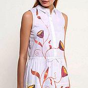 Одежда ручной работы. Ярмарка Мастеров - ручная работа Роспись одежды. Платье с цветами. Handmade.