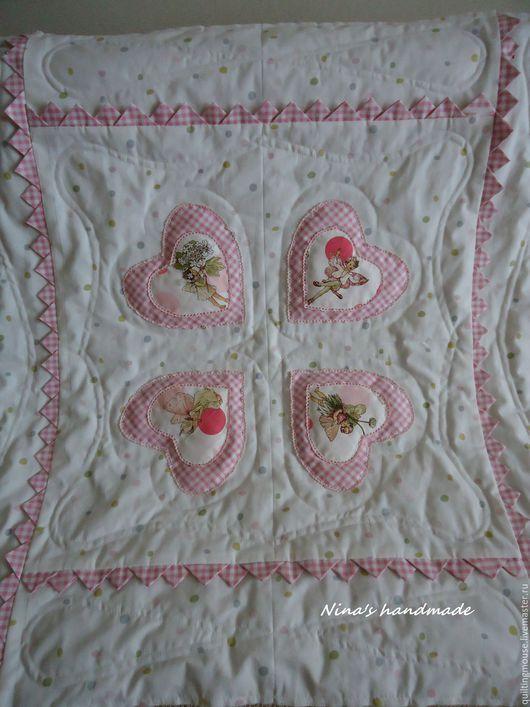 Пледы и одеяла ручной работы. Ярмарка Мастеров - ручная работа. Купить Одеяло на выписку. Handmade. Розовый, хлопок