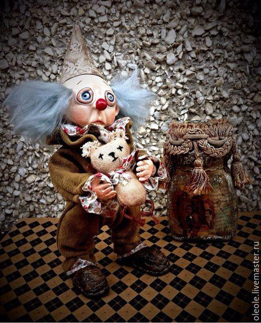 Коллекционные куклы ручной работы. Ярмарка Мастеров - ручная работа. Купить Кукла коллекционная Пикколо-Бамбино. Handmade. Клоун