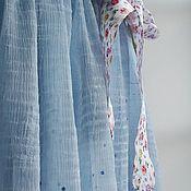 Одежда ручной работы. Ярмарка Мастеров - ручная работа Платье 2076 голубой шифон. Handmade.