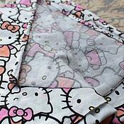 "Материалы для творчества ручной работы. Ярмарка Мастеров - ручная работа Трикотаж, отрез ""Hello Kitty"", 100х160 см.. Handmade."