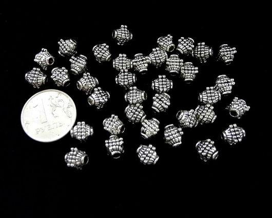 """Для украшений ручной работы. Ярмарка Мастеров - ручная работа. Купить Бусины 20 штук фигурные цвет """"серебро"""" в стиле модерн. Handmade."""