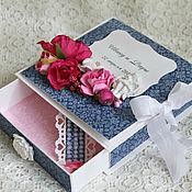 Открытки ручной работы. Ярмарка Мастеров - ручная работа Свадебная коробочка. Handmade.
