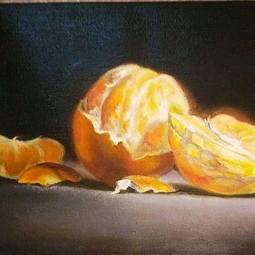 """Картины и панно ручной работы. Ярмарка Мастеров - ручная работа Картина маслом""""Апельсин"""". Handmade."""