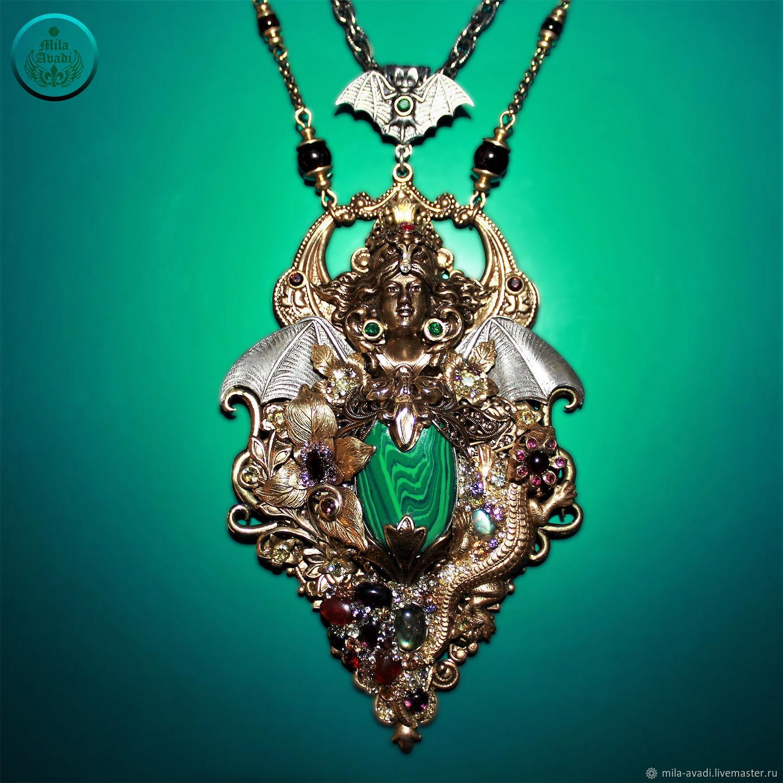 Talisman natural gems Mistress of the Copper Mountain rare handmade, Pendants, Odessa,  Фото №1