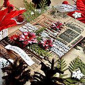 Открытки ручной работы. Ярмарка Мастеров - ручная работа Открытка Новогодняя ель. Handmade.