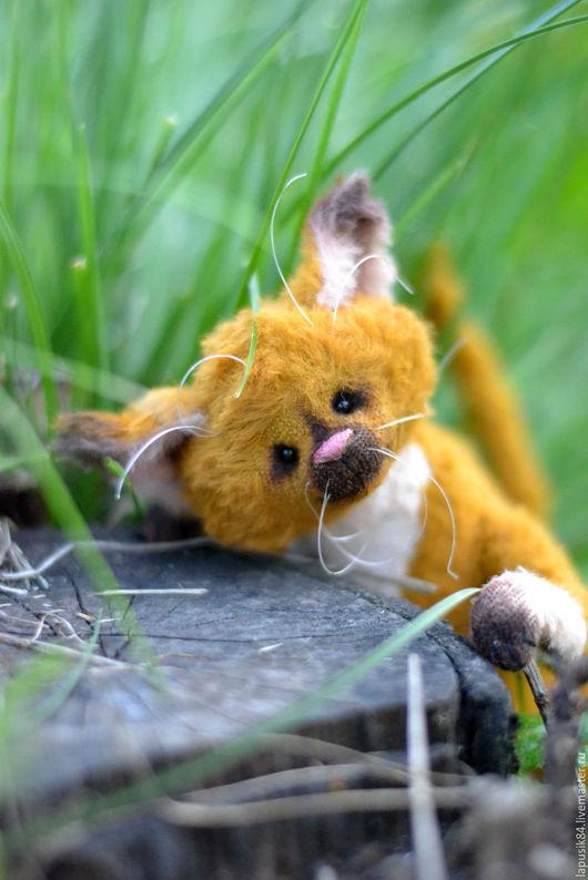 Мишки Тедди ручной работы. Ярмарка Мастеров - ручная работа. Купить Котик Макс. Handmade. Рыжий, игрушка ручной работы