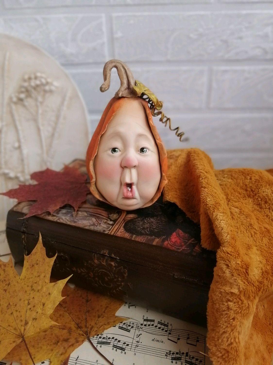 интерьерная кукла Тыквочка, Интерьерная кукла, Москва,  Фото №1