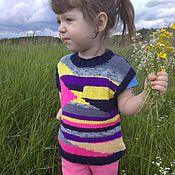 Работы для детей, handmade. Livemaster - original item Vest knitted tank top made of wool for boy girl rainbow. Handmade.