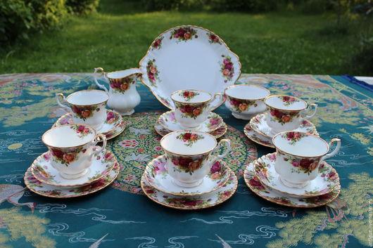 Винтажная посуда. Ярмарка Мастеров - ручная работа. Купить Фарфоровый сервиз Royal Albert, Англия. Handmade. Фарфор, подарок женщине
