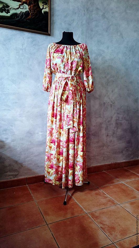 Платья ручной работы. Ярмарка Мастеров - ручная работа. Купить Платье Мятный пион Хлопок 100%. Handmade. Платье