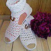 Footwear handmade. Livemaster - original item Boots Romance. Handmade.
