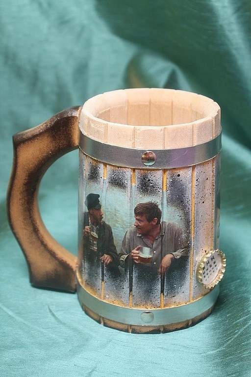Gifts for Men handmade. Livemaster - handmade. Buy Beer mugs - different.Beer, love and doves