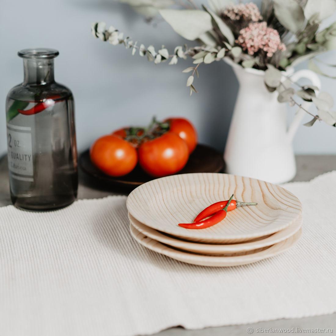 Wooden plates Set of 3 PCs (19#40, Plates, Novokuznetsk,  Фото №1