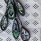 """Украшения handmade. Livemaster - original item Кулоны разные из кусочков """"Риштанской керамики"""" Тиффани. Handmade."""