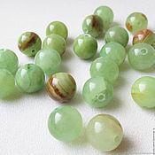 Материалы для творчества handmade. Livemaster - original item Onyx green 10 mm, beads ball smooth, natural stone. Handmade.