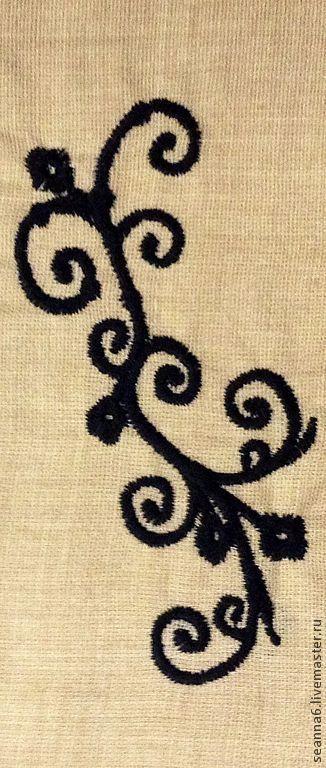 """Этно ручной работы. Ярмарка Мастеров - ручная работа. Купить Вышивка на одежде, картинка, картина, панно """"Витой орнамент"""". Handmade."""