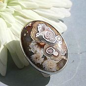 Украшения handmade. Livemaster - original item Ring with crazy lace agate. Silver. Handmade.