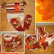 """Работы для детей, ручной работы. Ярмарка Мастеров - ручная работа комплект """"Золотая осень"""". Handmade."""