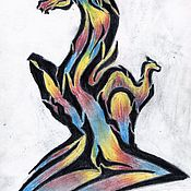 """Украшения ручной работы. Ярмарка Мастеров - ручная работа Украшения: эскиз тату """"двуликий образ"""". Handmade."""
