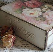 """Для дома и интерьера ручной работы. Ярмарка Мастеров - ручная работа """"Розы"""" коробочки. Handmade."""