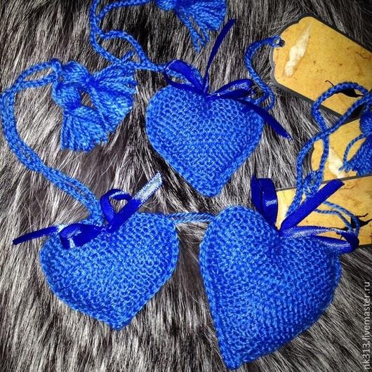 Подарки для влюбленных ручной работы. Ярмарка Мастеров - ручная работа. Купить Сердце синее. Handmade. Синий, игрушка