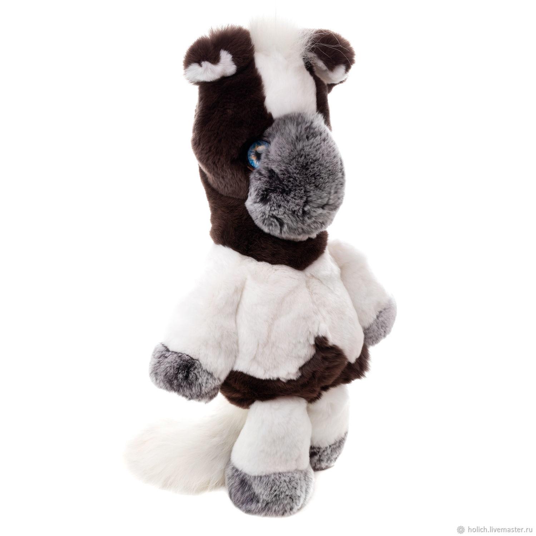 Мягкая игрушка из натурального меха Конь большой, Мягкие игрушки, Москва,  Фото №1