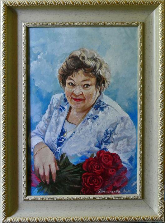 """Люди, ручной работы. Ярмарка Мастеров - ручная работа. Купить """"Розы для бабушки"""". Handmade. Комбинированный, подарок, подарок женщине"""