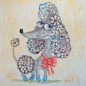 """Картины и панно ручной работы. Ярмарка Мастеров - ручная работа Пудель """"Блондинка"""". Handmade."""